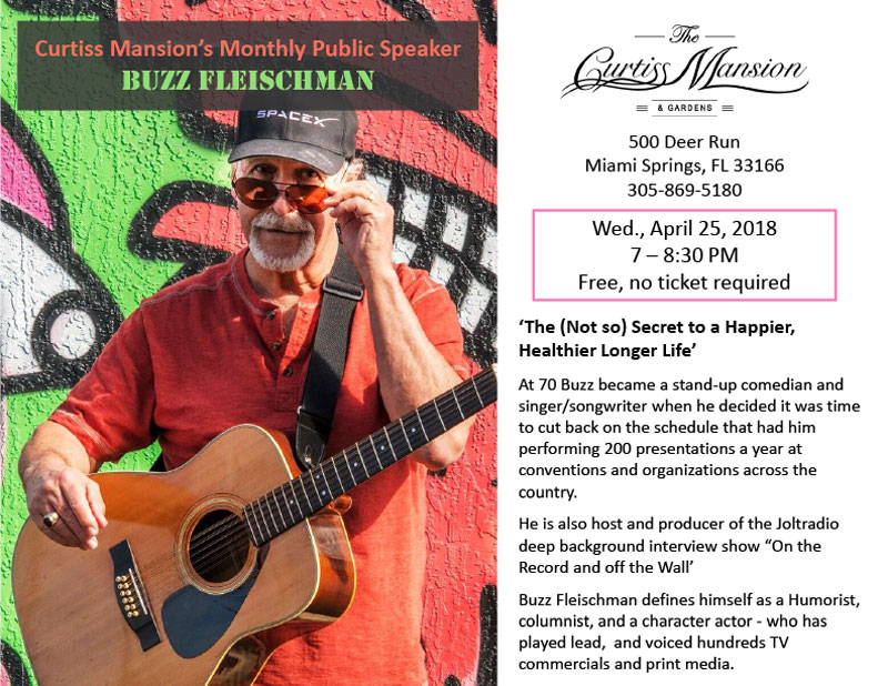 stand-up comedian Buzz FLEISCHMAN at the Curtiss Mansion