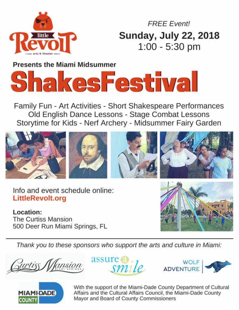 Little Revolt's Midsummer Shakes Fest