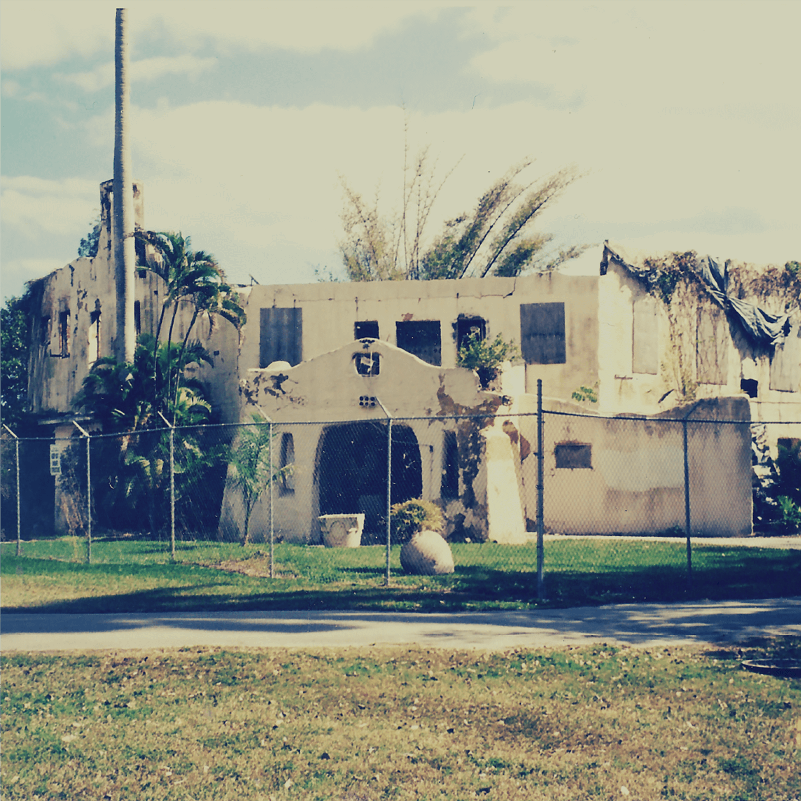The home suffered near destruction from three arson fires and several hurricanes, and then was neglected for over 13 years.