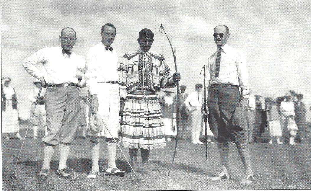 Curtiss on golf course with Seminole