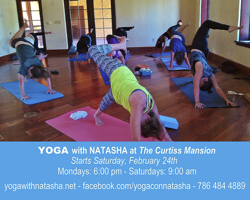Yoga with Natasha at the Mansion