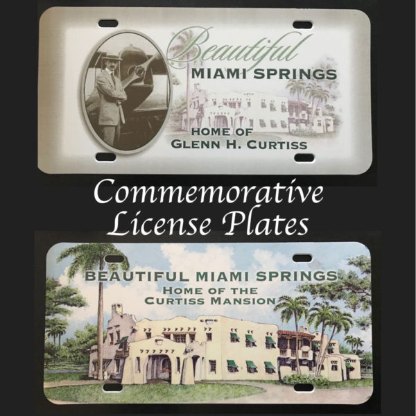 Curtiss Mansion Commemorative license plates
