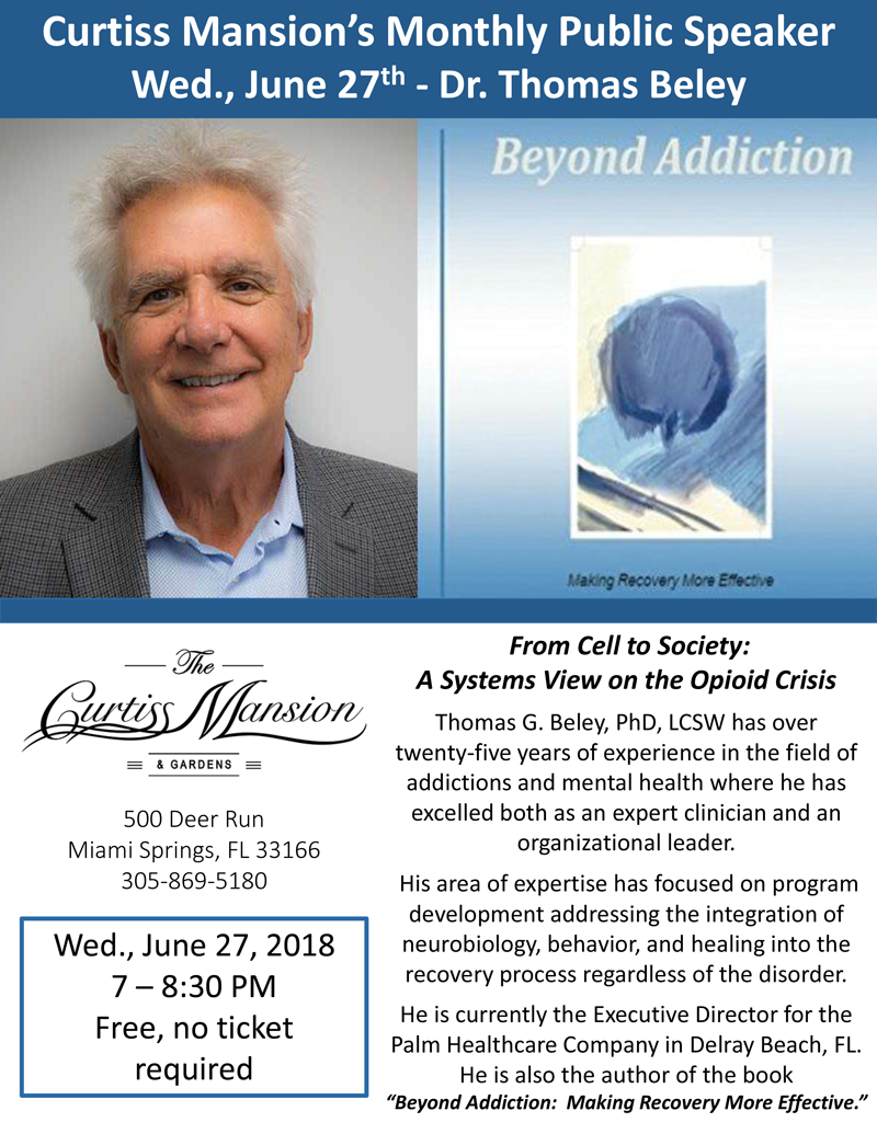 From Cell to Society: A Systems View on the Opioid Crisis Thomas G. Beley, PhD, LCSW