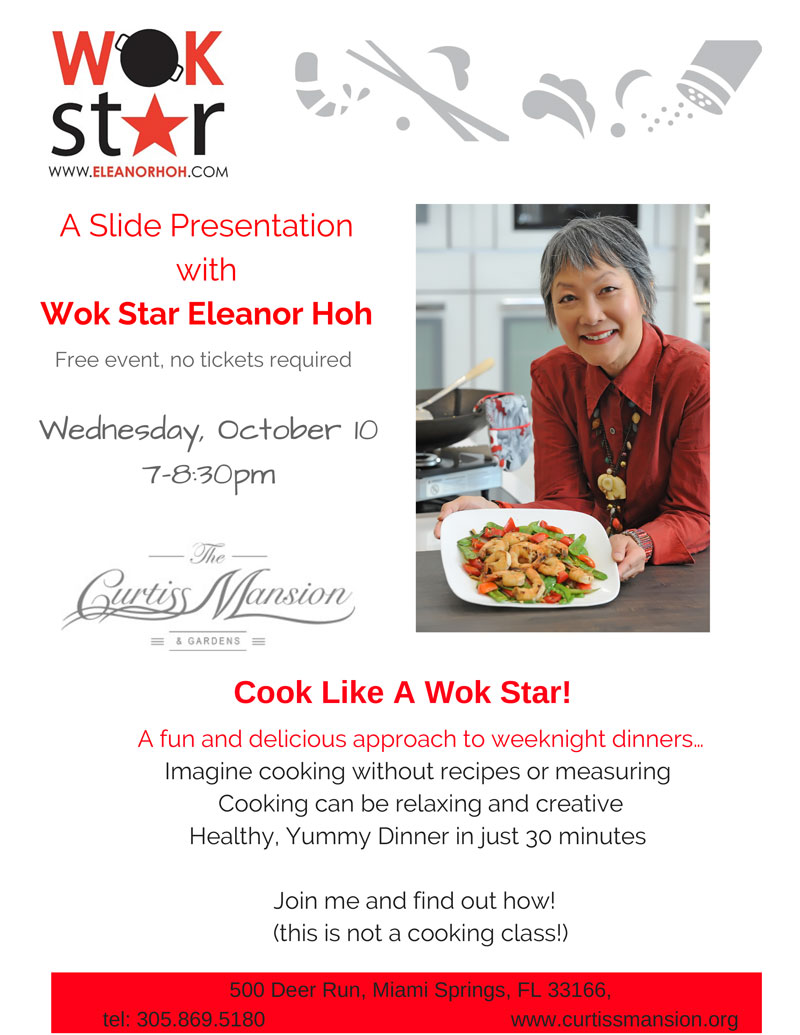 Learn to cook like a WOK Star at the Curtiss Mansion