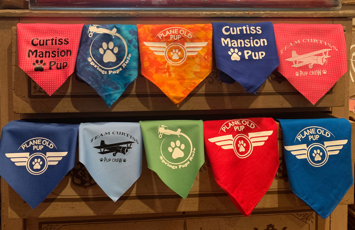 Pet Bandanas at The Curtiss Mansion Gift Shop