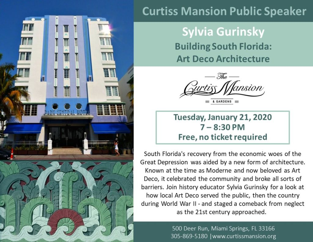 Sylvia Gurinsky - Building South Florida: Art Deco Architecture - The Curtiss Mansion.