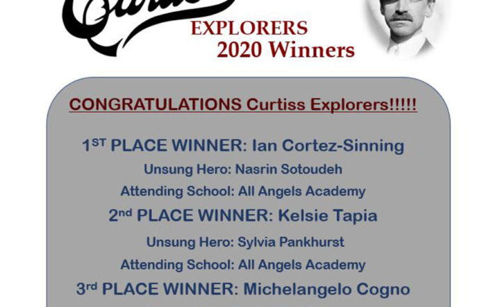Curtiss Explorers 2020 essay contest winners