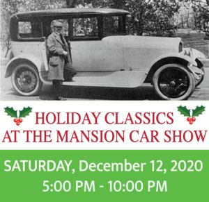 Classic car show and Holiday contest at the Mansion