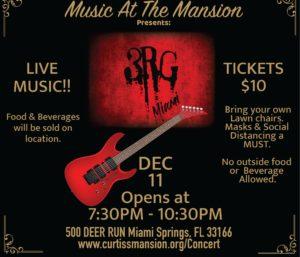 Concert: 3RG Miami rocks the Mansion