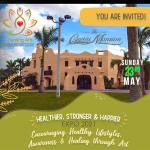 Healthier, Stronger & Happier Expo en The Curtiss Mansion by Healing Arts Expo (Exposición más saludable, más fuerte y más feliz )